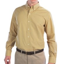 Fairway & Greene Windowpane Sport Shirt - Long Sleeve (For Men) in Yellow/Navy/Red - Closeouts