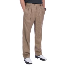 Fairway & Greene Wool Trouser Pants - Pleated (For Men) in Multi Check