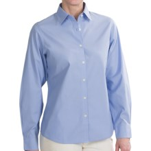 Fairway & Greene Wrinkle-Free Dress Shirt - Cotton, Long Sleeve (For Women) in Blue - Closeouts
