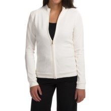 Fairway & Greene Zippered Windsweater - Merino Wool (For Women) in Pearl - Closeouts