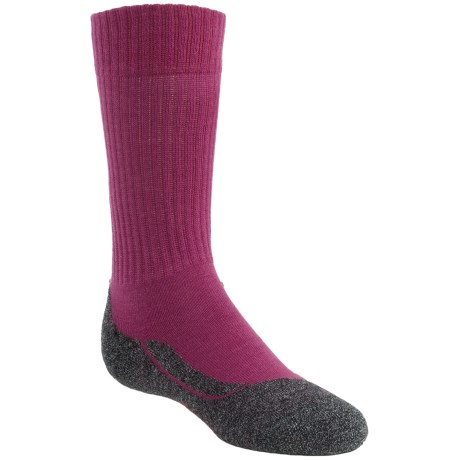 Falke Active Warm Crew Socks - Lightweight (For Youth) in Raspberry
