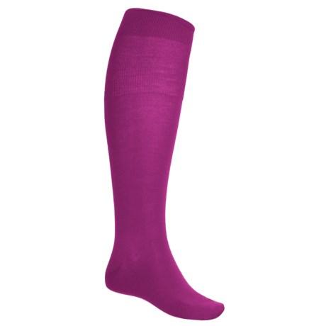 Falke Airport Over-the-Calf Socks - Merino Wool (For Men) in Berry