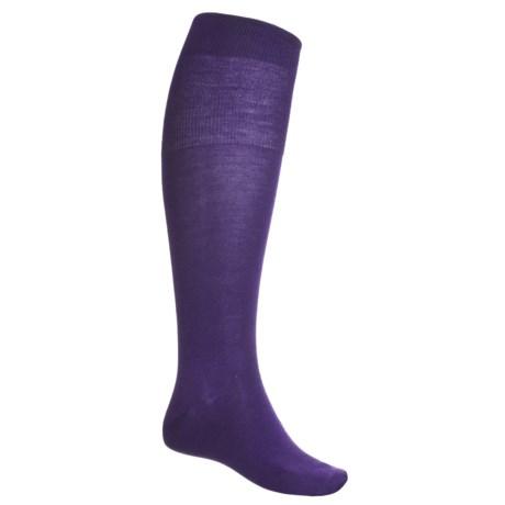 Falke Airport Over-the-Calf Socks - Merino Wool (For Men) in Blueberry