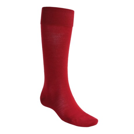 Falke Airport Over-the-Calf Socks - Merino Wool (For Men) in Scarlet