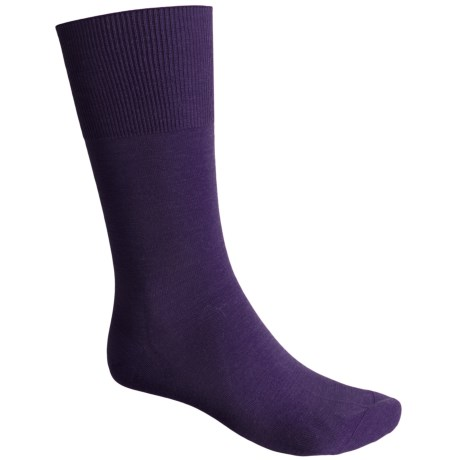 Falke Airport Socks - Wool-Cotton, Crew (For Men) in Blueberry