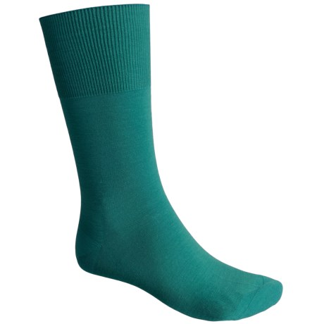 Falke Airport Socks - Wool-Cotton, Crew (For Men) in Trachtengrün