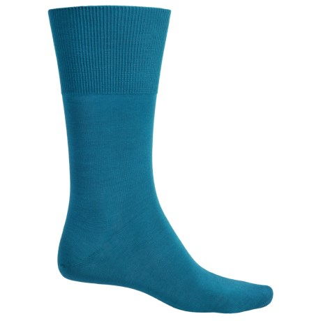 Falke Airport Socks - Wool-Cotton, Crew (For Men) in Turquoise