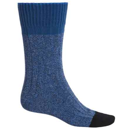 Falke Color Flash Socks - Crew (For Men) in Blue Heather/Black - Closeouts