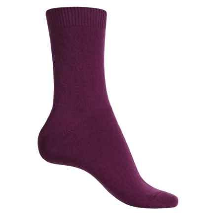 Falke Cosy Socks - Wool-Cashmere, Crew (For Women) in Grape - Closeouts