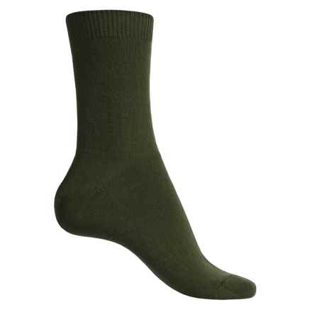 Falke Cosy Socks - Wool-Cashmere, Crew (For Women) in Khaki - Closeouts