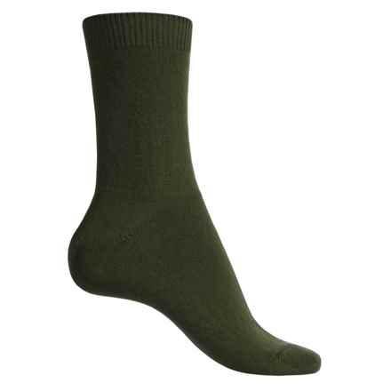Falke Cosy Socks - Wool-Cashmere, Crew (For Women) in Khaki - Closeouts