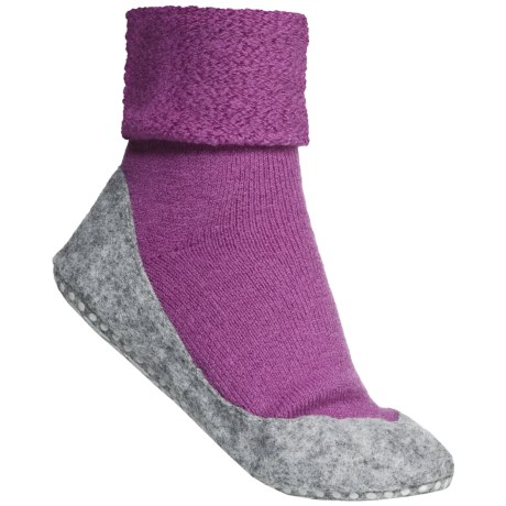 Falke Cosyshoes Slipper Socks - Merino Wool (For Women) in Pearl