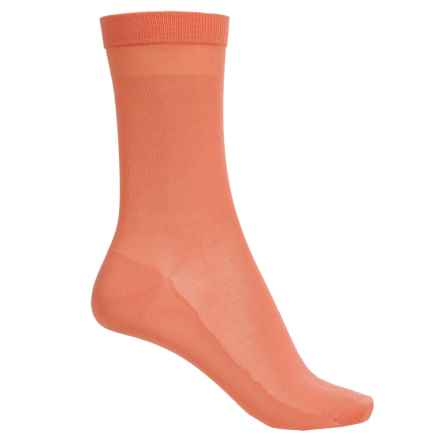 Falke Cotton Delight Socks - Crew (For Women) in Coral Rose - Closeouts