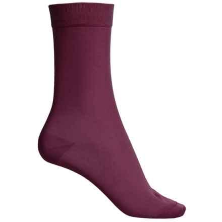 Falke Cotton Touch Socks - Crew (For Women) in Grape - Closeouts