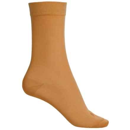 Falke Cotton Touch Socks - Crew (For Women) in Mustard - Closeouts