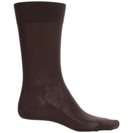 Falke Family Socks - Stretch Cotton, Crew (For Men) in Dark Brown - Closeouts