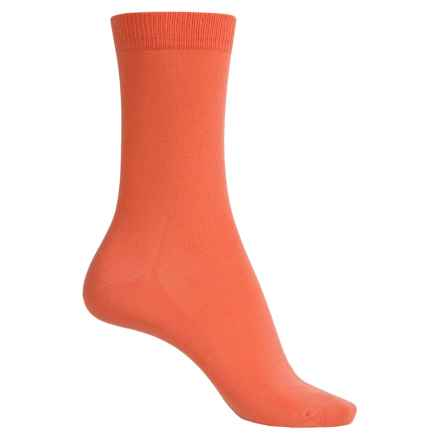 Falke Family Socks - Stretch Cotton, Crew (For Women) in Coral Rose - Closeouts