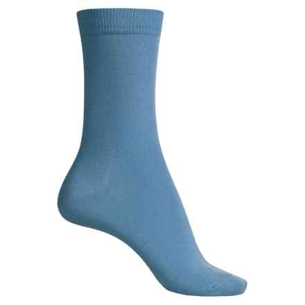 Falke Family Socks - Stretch Cotton, Crew (For Women) in Cornflower Blue - Closeouts