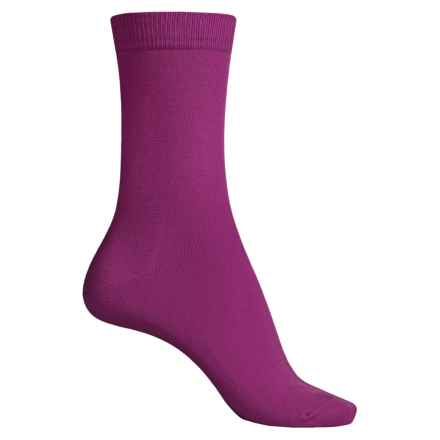 Falke Family Socks - Stretch Cotton, Crew (For Women) in Magenta - Closeouts