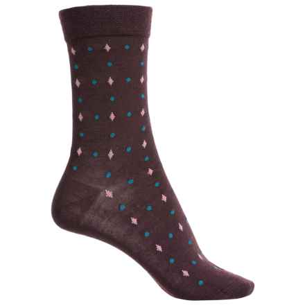 Falke Geometry Socks - Virgin Wool, Crew (For Women) in Burgundy - Closeouts