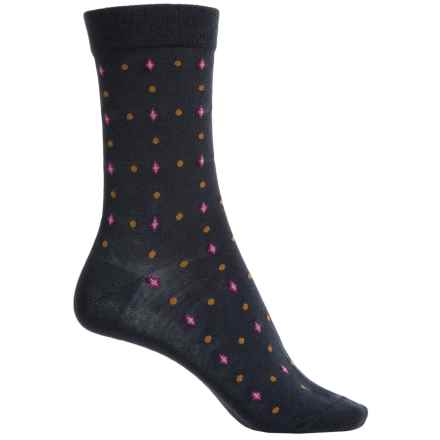 Falke Geometry Socks - Virgin Wool, Crew (For Women) in Navy - Closeouts