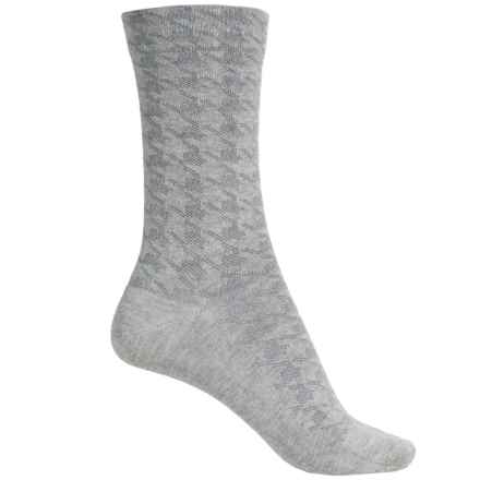 Falke Houndstooth Socks - Crew (For Women) in Grey - Closeouts