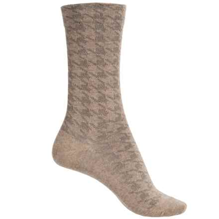 Falke Houndstooth Socks - Crew (For Women) in Nutmeg - Closeouts