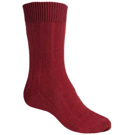 Falke Lhasa Socks - Merino Wool-Cashmere, Mid Calf (For Men) in Berry - Closeouts