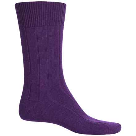 Falke Lhasa Socks - Merino Wool-Cashmere, Mid Calf (For Men) in Petunia - Closeouts