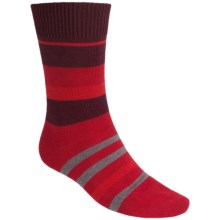 Falke Lhasa Stripe Socks - Wool-Cashmere, Mid-Calf (For Men) in Cranberry - Closeouts