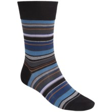 Falke Multicolor Striped Socks - Crew (For Men) in Black - Closeouts