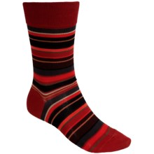 Falke Multicolor Striped Socks - Crew (For Men) in Cranberry - Closeouts