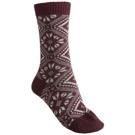 Falke Norwegian Pattern Socks - Crew (For Women) in Barolo
