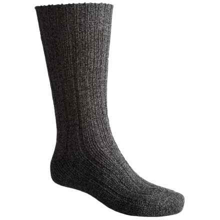 Falke Ribbed Boot Socks - Virgin Wool, Crew (For Men and Women) in Anthracite Melange - Closeouts