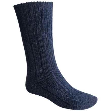 Falke Ribbed Boot Socks - Virgin Wool, Crew (For Men and Women) in Marine - Closeouts