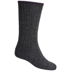 Falke Ribbed Boot Socks - Wool Blend (For Men and Women) in Dark Brown