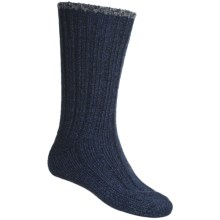 Falke Ribbed Boot Socks - Wool Blend (For Men) in Marine - Closeouts