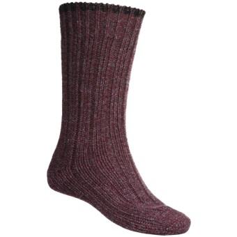 Falke Ribbed Boot Socks - Wool Blend (For Men) in Wine
