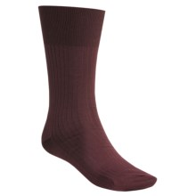 Falke Ribbed Classic Pure Egyptian Cotton Socks (For Men) in Burgundy - Closeouts