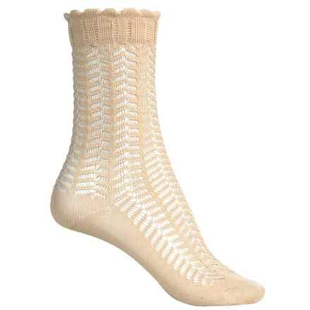 Falke Romantic Lace Socks - Crew (For Women) in Cream - Closeouts