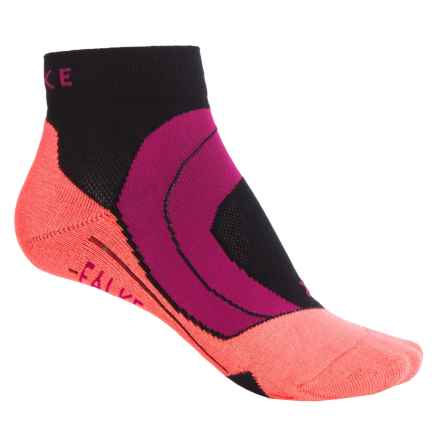 Falke RU4 Cushion Running Socks - Ankle (For Women) in Black/Neon Orange - Closeouts