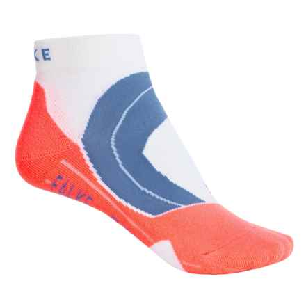 Falke RU4 Cushion Running Socks - Ankle (For Women) in White/Neon Orange - Closeouts