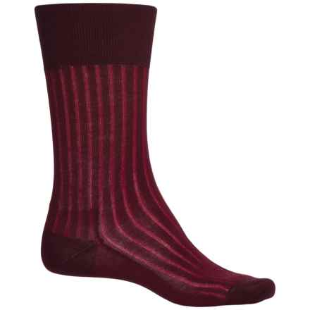 Falke Shadow Rib Cotton Socks - Crew (For Men) in Barolo - Closeouts