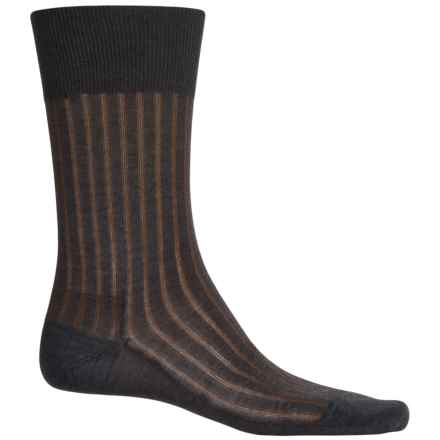 Falke Shadow Rib Cotton Socks - Crew (For Men) in Flanell - Closeouts