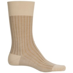 Falke Shadow Rib Cotton Socks - Crew (For Men) in Gravel
