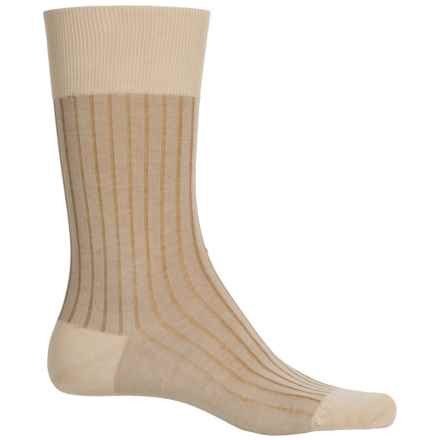 Falke Shadow Rib Cotton Socks - Crew (For Men) in Gravel - Closeouts