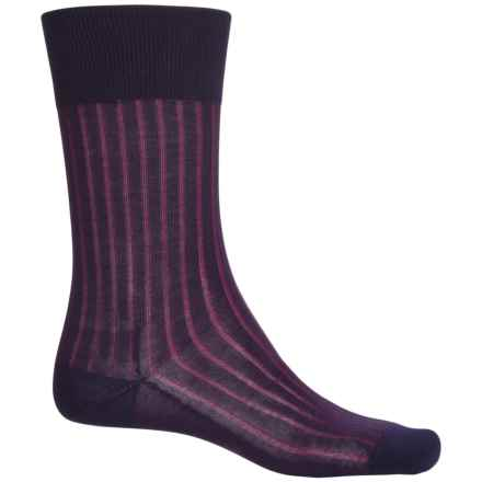 Falke Shadow Rib Cotton Socks - Crew (For Men) in Velvet - Closeouts