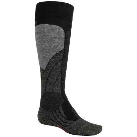 Falke SK1 Ski Socks - Merino Wool, Over the Calf (For Little and Big Kids) in Black - Closeouts