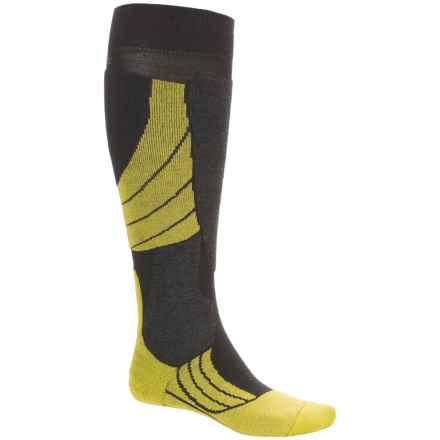Falke SK2 Ski Socks - Merino Wool, Over the Calf (For Men) in Black/Lime - Closeouts