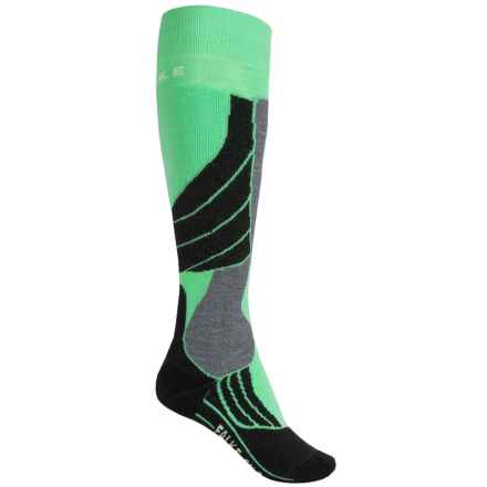 Falke SK2 Ski Socks - Over the Calf (For Women) in Mint/Black - Closeouts